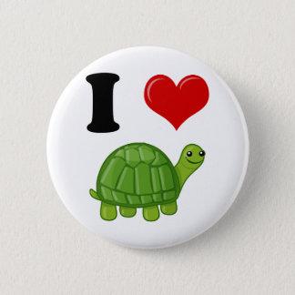 I Love Turtles Pinback Button