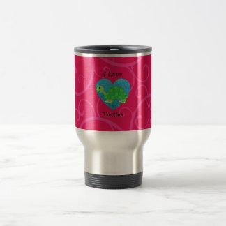 I love turtles pink swirls mugs