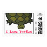 I Love Turtles! Postage Stamp