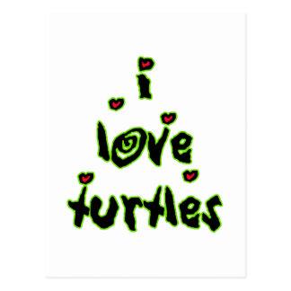 I Love Turtles Postcards