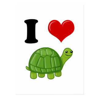 I Love Turtles Post Cards