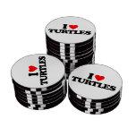 I LOVE TURTLES SET OF POKER CHIPS