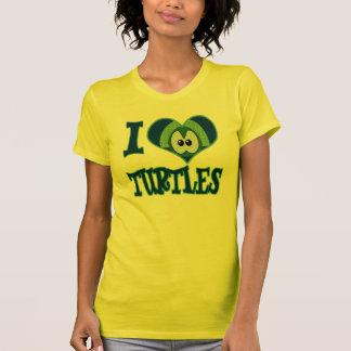 I Love turtles T Shirt