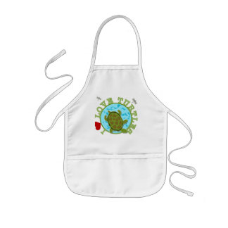 I Love Turtles Tshirts and Gifts Kids' Apron