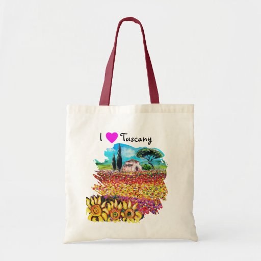 I LOVE TUSCANY AND SUNFLOWERS TOTE BAG