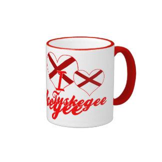 I Love Tuskegee, Alabama Ringer Coffee Mug