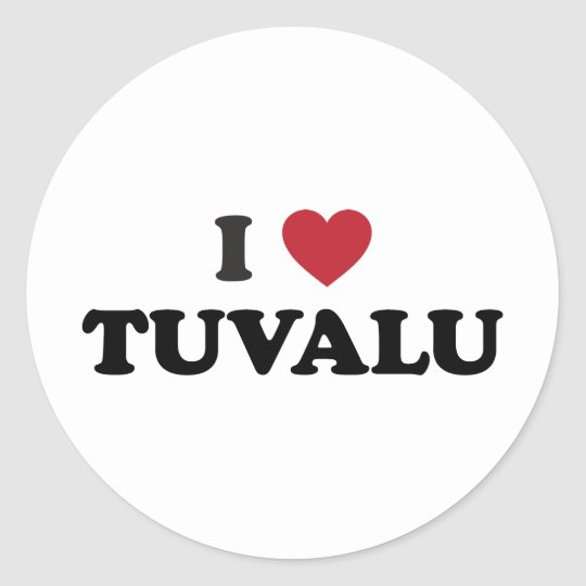 I Love Tuvalu Classic Round Sticker