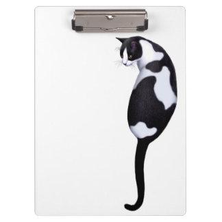 I Love Tuxedo Cats Clipboard