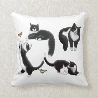 I Love Tuxedo Cats Pillow