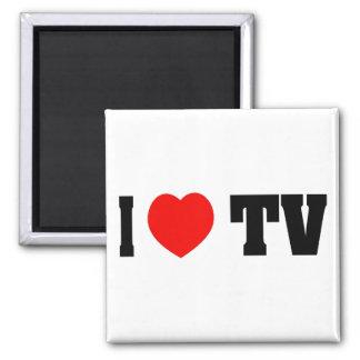 I Love TV 2 Inch Square Magnet