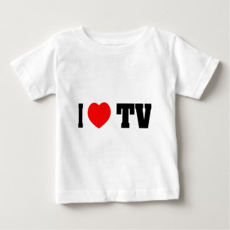 I Love TV Baby T-Shirt