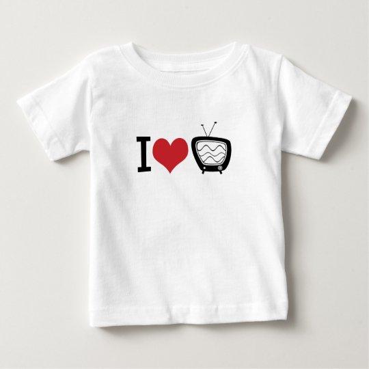 I Love TV Baby T-Shirt