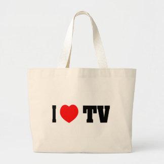 I Love TV Canvas Bag