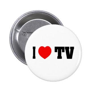 I Love TV Pinback Button