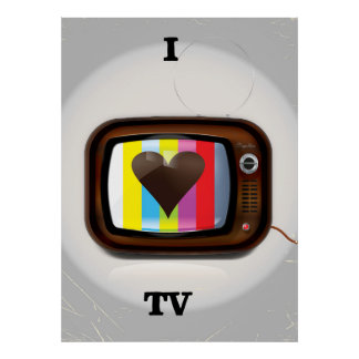 I love Tv cartoon poster