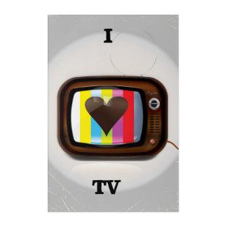 I love Tv cartoon poster Acrylic Wall Art