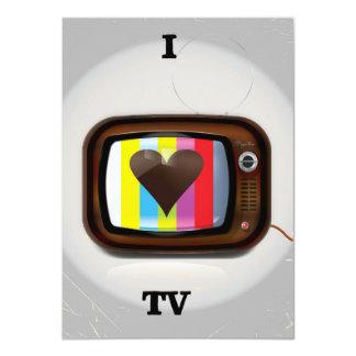 I love Tv cartoon poster Card
