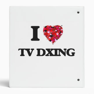 I Love Tv Dxing 3 Ring Binder
