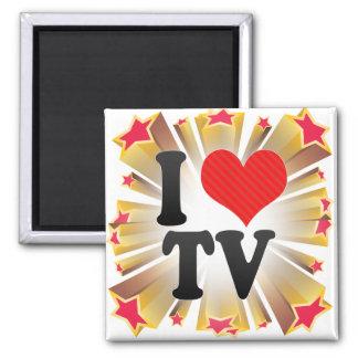 I Love TV Fridge Magnet