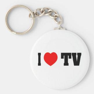 I Love TV Keychain