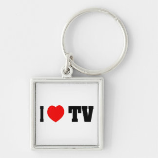 I Love TV Keychain