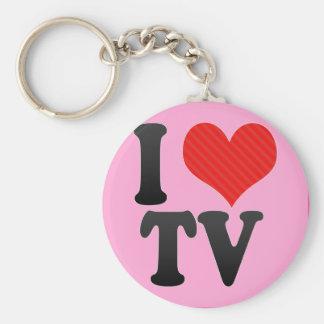 I Love TV Keychains