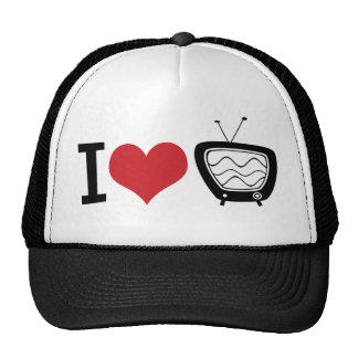 I Love TV Mesh Hat