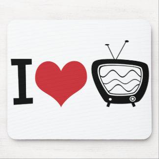 I Love TV Mouse Pad