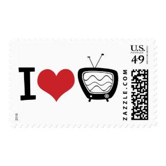 I Love TV Postage Stamp