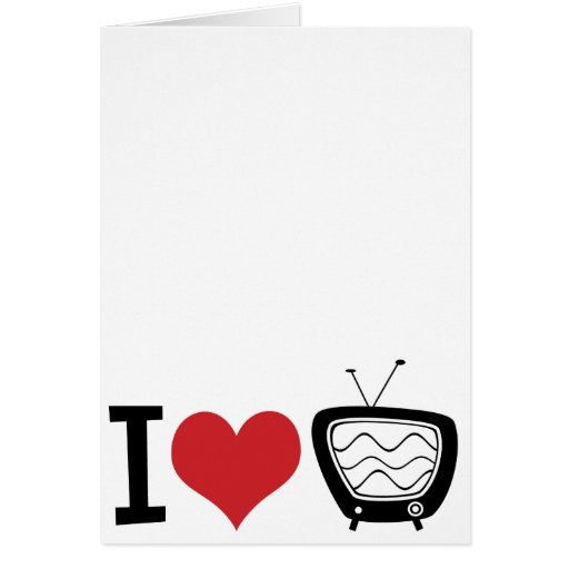 I Love TV Stationery Note Card