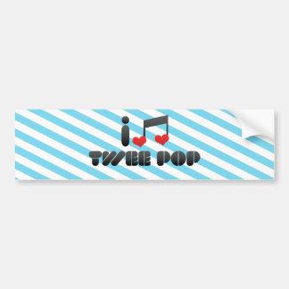 I Love Twee Pop Car Bumper Sticker