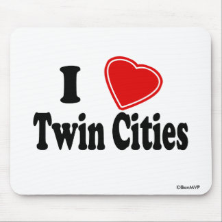 I Love Twin Cities Mouse Pad