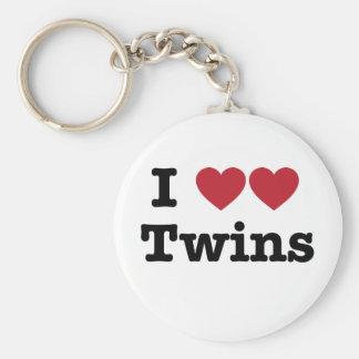 I Love Twins Keychain