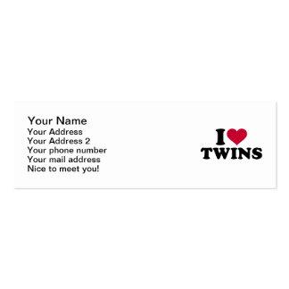 I love Twins Mini Business Card