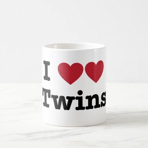 I Love Twins Mugs