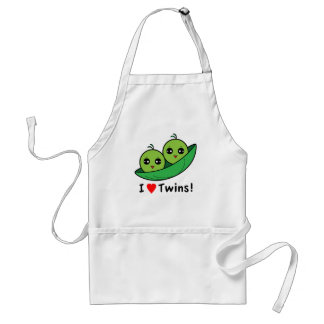 I Love Twins: Two Peas in a Pod Adult Apron