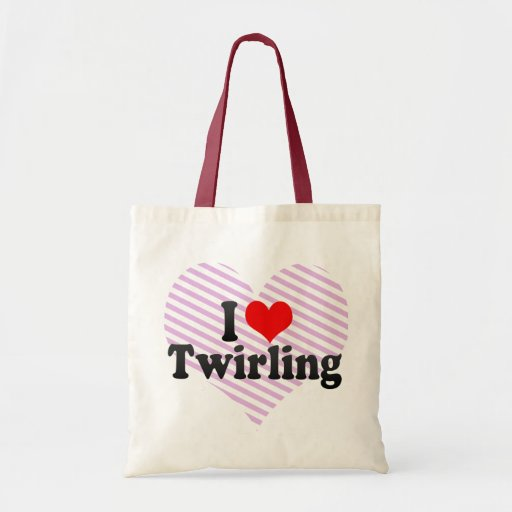 I Love Twirling Canvas Bags
