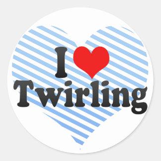 I Love Twirling Classic Round Sticker