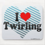I Love Twirling Mouse Pad