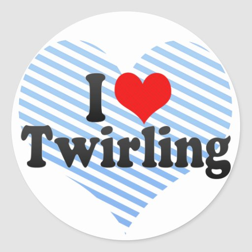I Love Twirling Sticker