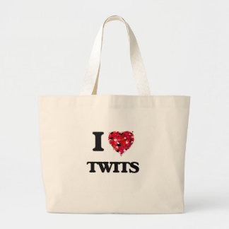 I love Twits Jumbo Tote Bag