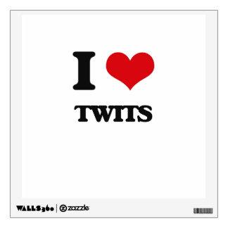 I love Twits Room Stickers
