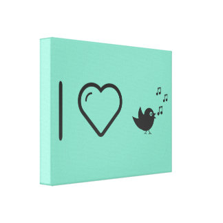 I Love Twittering Canvas Print