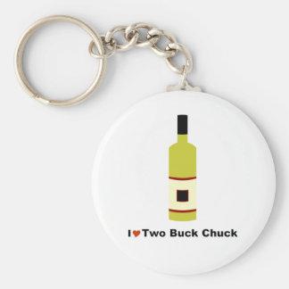 I Love Two Buck Chuck Basic Round Button Keychain