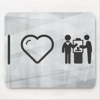 I Love Two Coworkers Mouse Pad