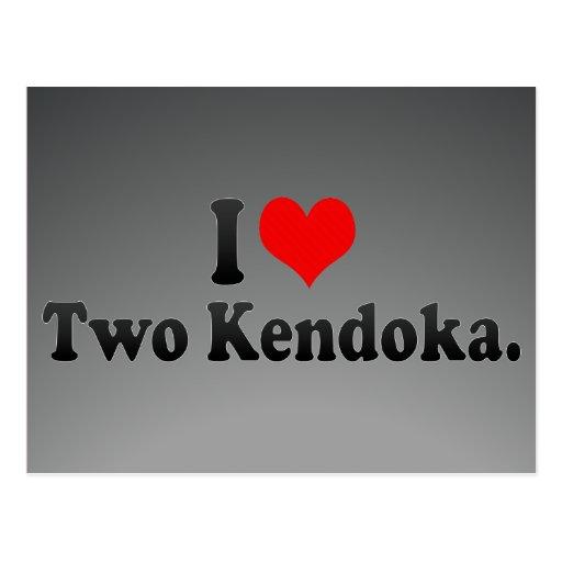 I love Two Kendoka. Postcard