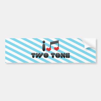 I Love Two Tone Bumper Stickers