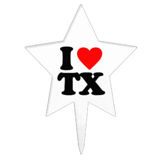 I LOVE TX CAKE TOPPERS