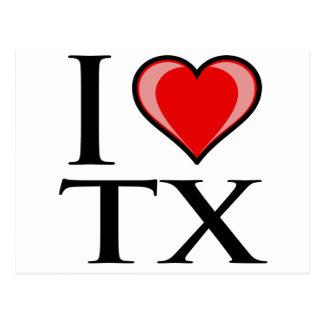 I Love TX - Texas Postcard