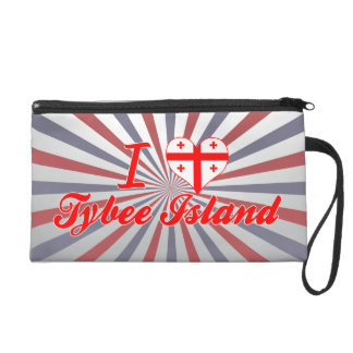 I Love Tybee Island Georgia Wristlet Purses